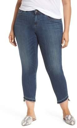 Vince Camuto Indigo Curve Hem Skinny Jeans