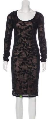Tom Ford Long Sleeve Midi Dress