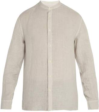 120% Lino 120 LINO Long-sleeved linen shirt