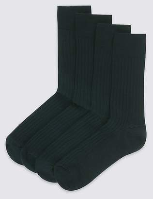 Marks and Spencer 4 Pack Lambswool Rich Socks