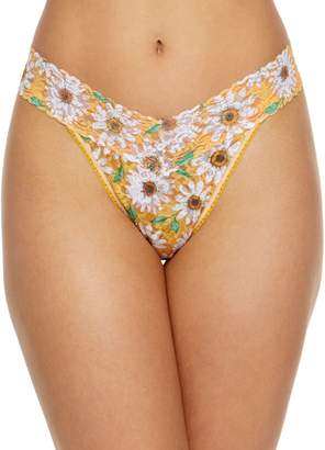 Hanky Panky Happy Classic Daisies Original Rise Lace Thong
