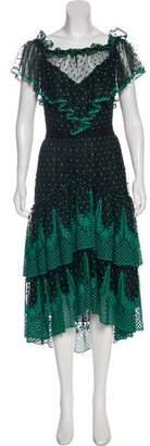 Philosophy di Lorenzo Serafini Embroidered Midi Dress w/ Tags