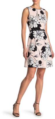 London Times Rowena Floral Print Fit & Flare Dress