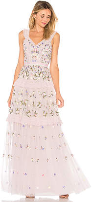 Needle & Thread Prism Ditsy Sleeveless Gown