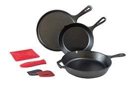 Lodge Essential Cast Iron 6 Piece Frypan Set