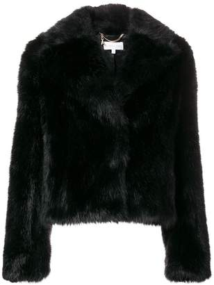 Patrizia Pepe furry cropped jacket