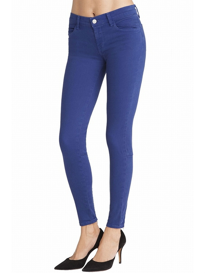 J Brand 8910 Danica Skinny Zipper Jeans In Indigo Blue