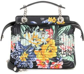 Fendi DotCom Click printed leather shoulder bag