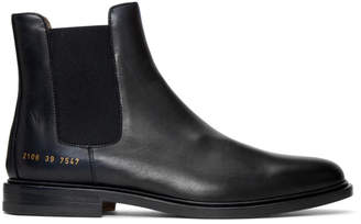 Common Projects Black Chelsea Boots