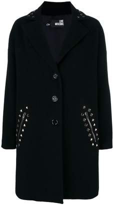 Love Moschino classic single-breasted coat