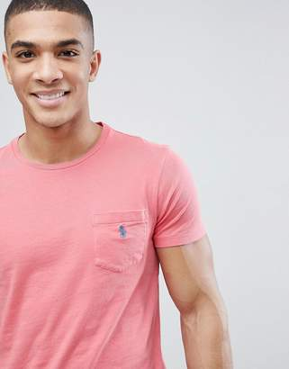 Polo Ralph Lauren Pocket T-Shirt With Polo Player In Washed Red