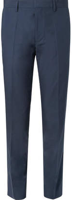 HUGO BOSS Navy Genesis Slim-Fit Cotton Suit Trousers