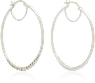 Ila Phebe 14K White Gold Diamond Hoop Earrings