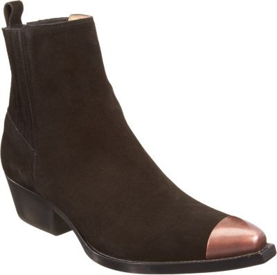 Sartore Metal Cap Toe Ankle Boot