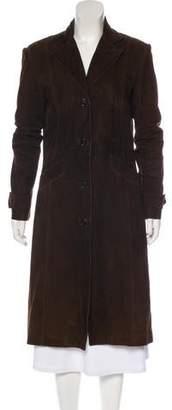 TSE Long Suede Coat