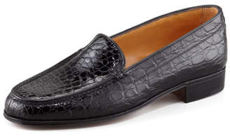 Gravati Crocodile Loafer, Black