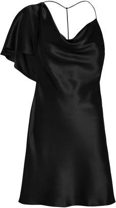 Cushnie Cowl Neck Draped Mini Dress