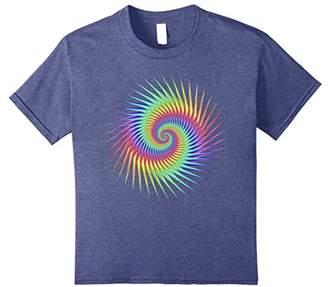 Psychedelic Trippy Rainbow Spiral T-Shirt - Neon Art Design
