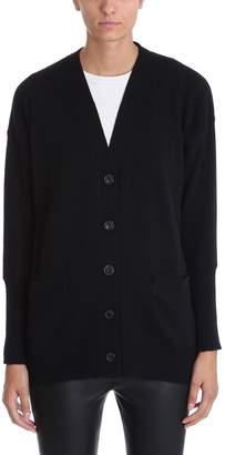Mauro Grifoni Black Cashmere Wool Cardigan