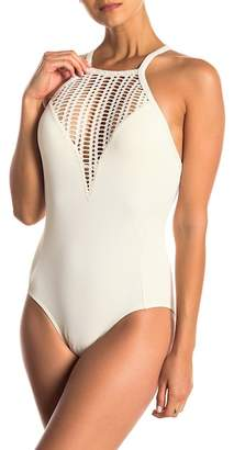 Robin Piccone Sophia High Neck One-Piece Swimsuit