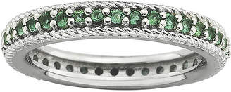 JCPenney FINE JEWELRY Personally Stackable Lab-Created Emerald Eternity Ring