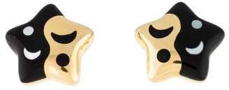 Asch Grossbardt 14K Diamond & Enamel Celestial Earrings