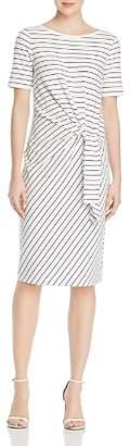 Lafayette 148 New York Glendora Striped Tie Front Dress