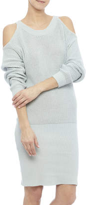 J.o.a. Cold Shoulder Sweater Dress