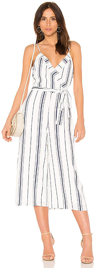 Double V Neck Cropped Jumpsuit