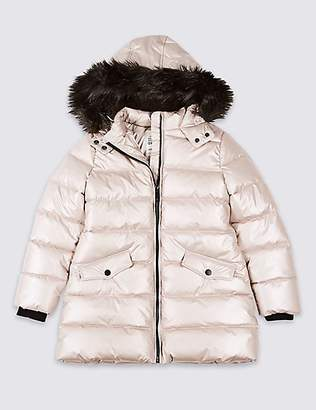 Marks and Spencer Long Padded Coat with StormwearTM (3-16 Years)