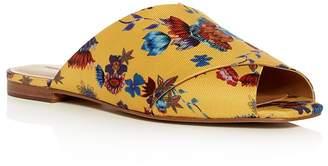 Rebecca Minkoff Women's Anden Floral Crisscross Slide Sandals