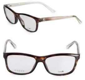 Gucci 56MM Multi-Toned Optical Glasses