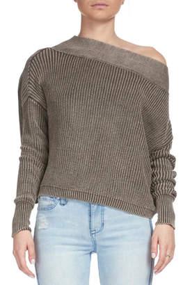 Elan International Cropped Boatneck Sweater