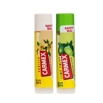 Carmex Lip Balm 2-Pack Lime and Vanilla Stick with SPF25 2 pack