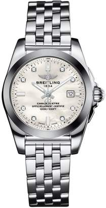 Breitling Stainless Steel Galactic Sleek Quartz Watch 29mm