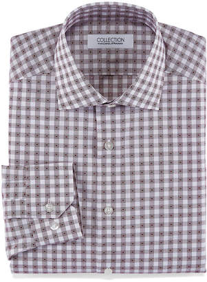 COLLECTION Collection by Michael Strahan Collection By Michael Strahan Stretch Fabric Long Sleeve Dress Shirt Long Sleeve Woven Gingham Dress Shirt