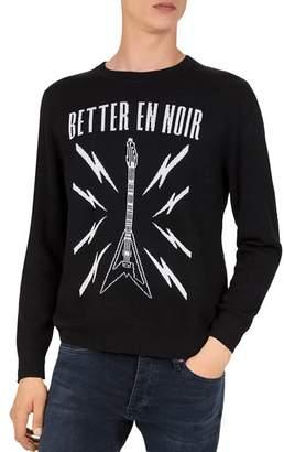 The Kooples Better en Noir Intarsia Sweater