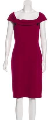 Christian Dior Off-The-Shoulder Wool Dress