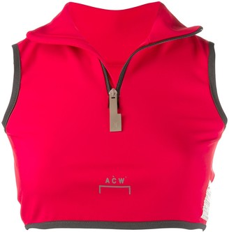 A-Cold-Wall* zip front cropped vest