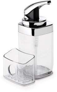 Simplehuman Precision Lever Square Push Soap Pump With Removable Caddy