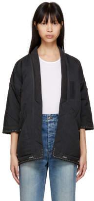 Visvim Black Down Sanjuro Kimono Jacket