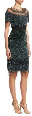 Pamella Roland Women's Sequin Cocktail Dress - Emerald - Size 8