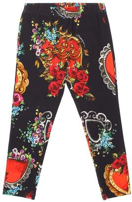 Dolce & Gabbana Floral stretch cotton pants