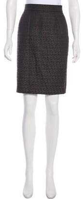 Fendi Knee-Length Zucca Skirt