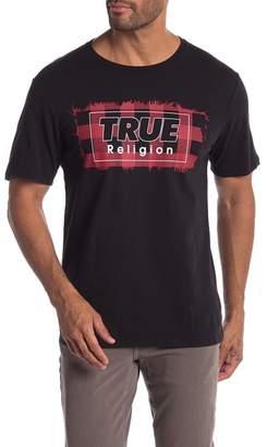 True Religion Plaid Bow Crew Neck Tee