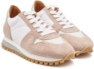 Closed Runner Suede Sneakers with Leather