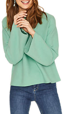 Oasis Bell Sleeve Knit Jumper, Teal Green