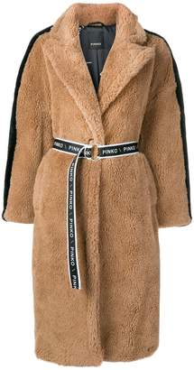 Pinko oversized shearling coat