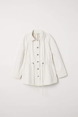 H&M Coated cotton jacket - White
