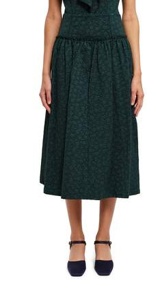 Opening Ceremony Puckered Jersey Jacquard Skirt